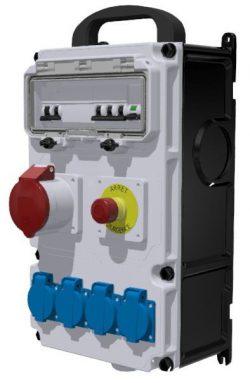 COFFRET DE CHANTIER - ID 4x25A-30mA + AU + 4PC NF + 1PC 16A 3P+T
