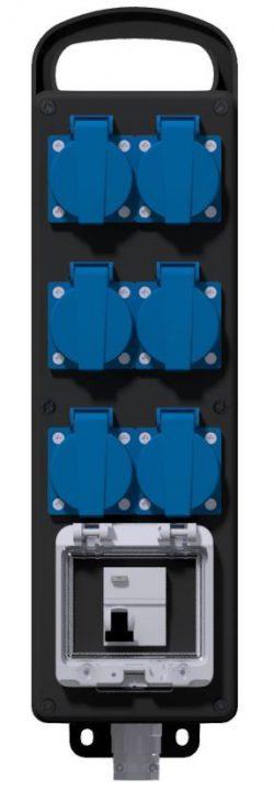 COFFRET CORPS DE METIER - Inter-Diff 2P 25A-30mA + 6PC NF + 3M HO7RNF 3G2.5² + Fiche NF