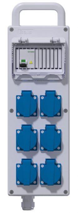 COFFRET CORPS DE METIER - Disjoncteur PH/N 16A + 6PC NF + 3M HO7RNF 3G2.5² + Fiche NF