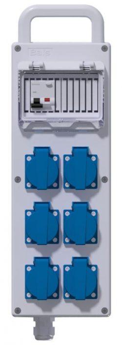 COFFRET CORPS DE METIER - 2 Disj PH/N 16A + 6PC NF + 3M HO7RNF 3G4² + Fiche CEI 32A 230V