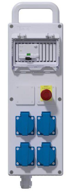 COFFRET CORPS DE METIER - Disj Diff PH/N 16A-30mA + 4PC NF + AU + 3M HO7RNF 3G2.5² + Fiche NF