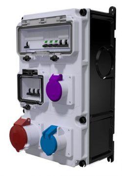 COFFRET D'USINE - ID 4x40A-30mA + 1PC 16A 2P+T + 1PC 16A 2P 24V + 1PC 16A 3P+T