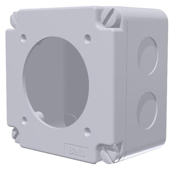 boîtier pour socle entraxe 60x60 plastron 75x75
