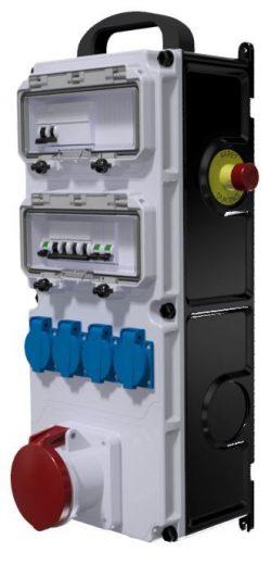 COFFRET DE CHANTIER - ID 4x80A-30mA + AU + 4PC NF + 1PC 63A 3P+N+T